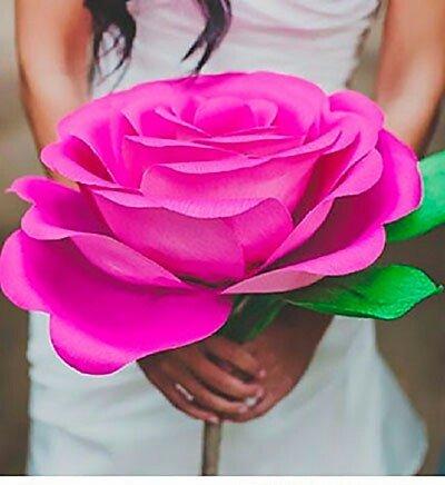 Цветы большие своими руками мастер класс
