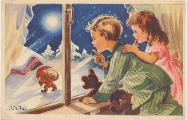 Колекція раритетних різдвяних листівок Поштового музею Швеції