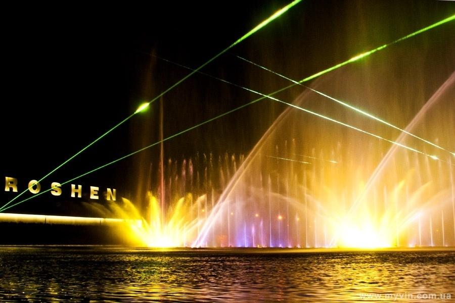 ROSHEN Фонтан  (Вінницький фонтан) - єдиний в Україні !!