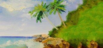 Малюємо морський пейзаж з дітьми. Живопис для дітей