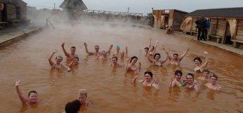 Крещенское купание в горячем источнике