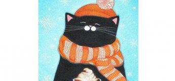 Картина акрилом «Котик»